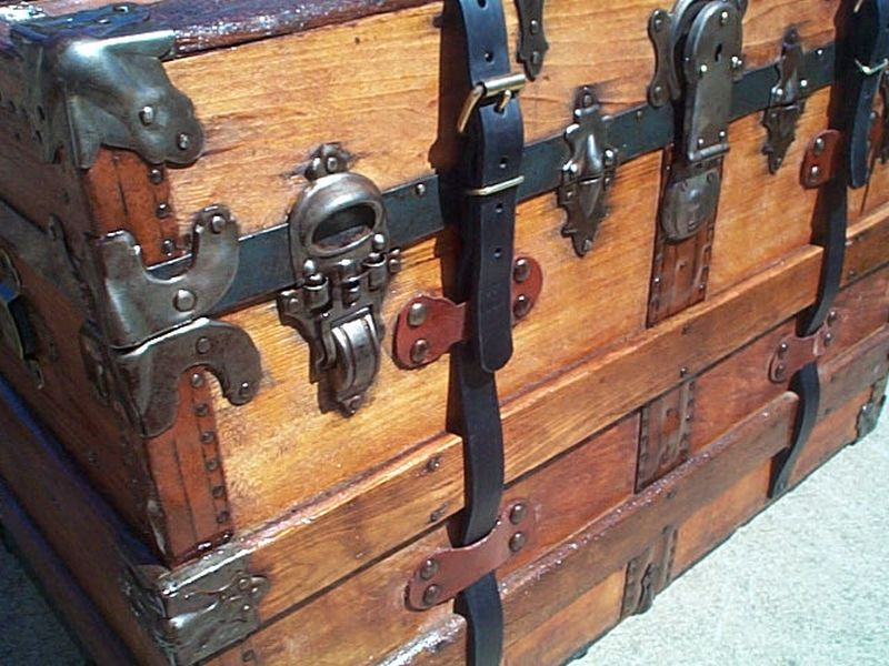 369 Restored Antique Trunks For Sale All Wood Leather