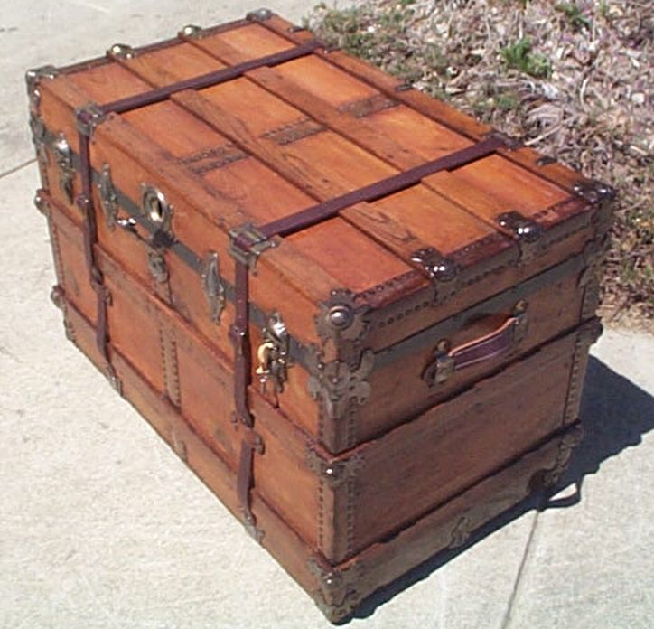 371 Restored Steamer Trunks For Sale All Wood Leather