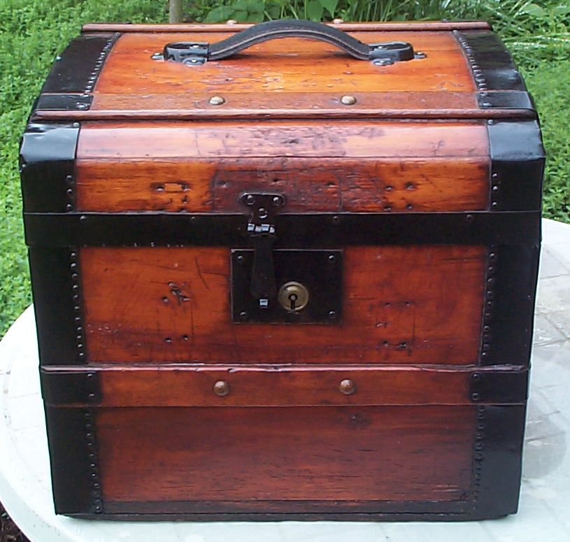 Dome Top Antique Trunk #377