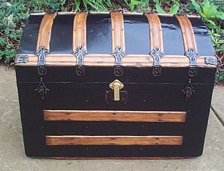 Dome Top Antique Trunk #379