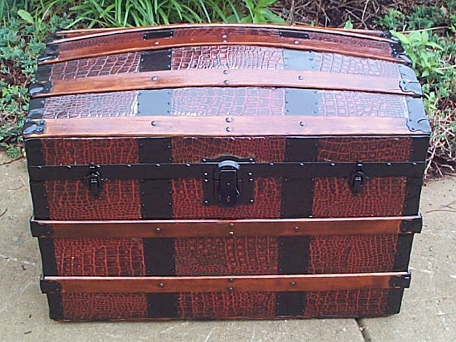 Dome Top Antique Trunk #380
