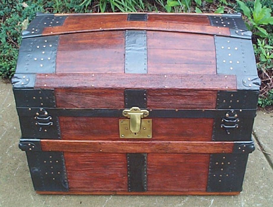 Dome Top Antique Trunk #383