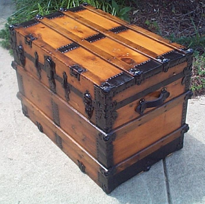 Antique  Dome Top Trunk #405