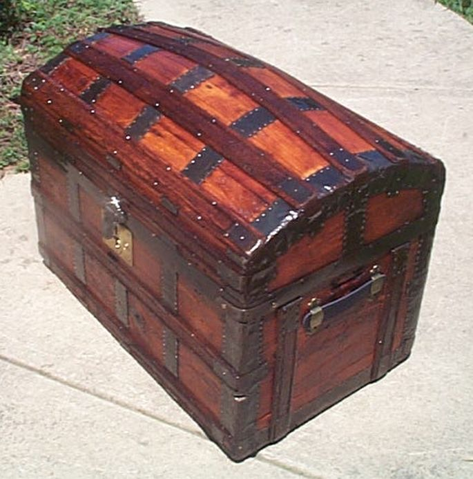 Antique  Dome Top Trunk #409