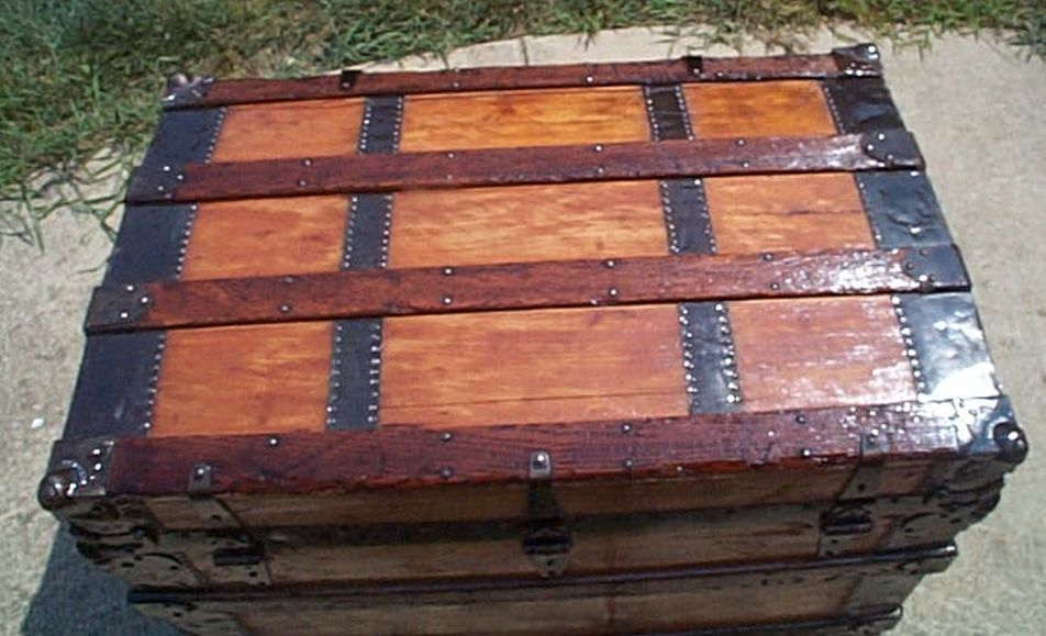 Navy Shadow box Idea For Antique Roll Top Trunk #429