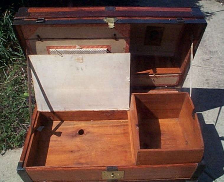 Navy Shadow box Idea For Antique Dome Top Trunk #432