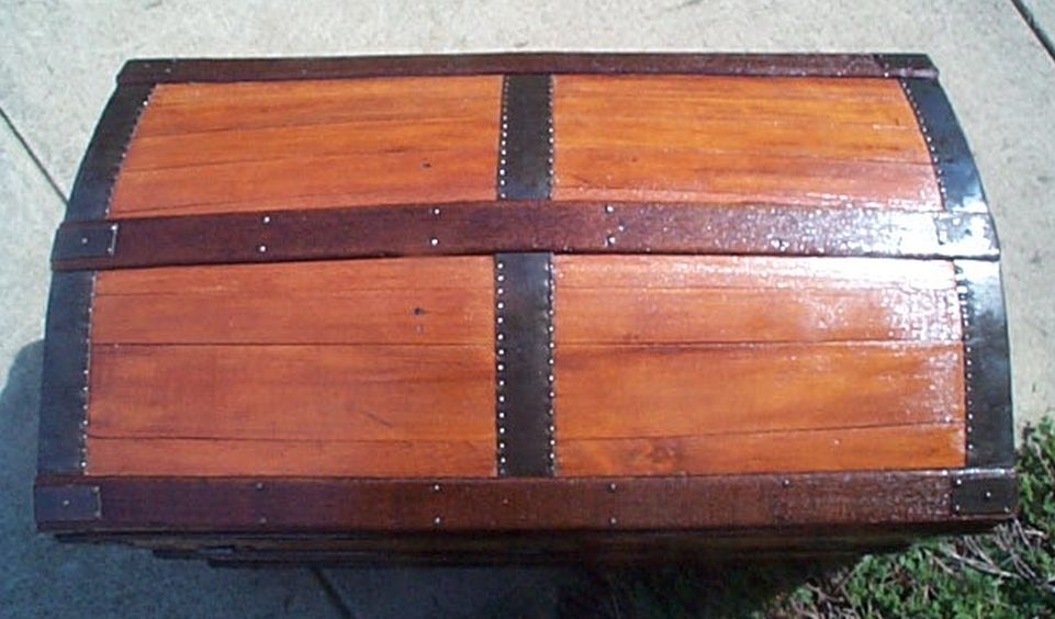 Antique Dome Top Trunk #432