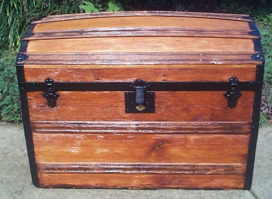 restored antique dome top trunk for sale 447