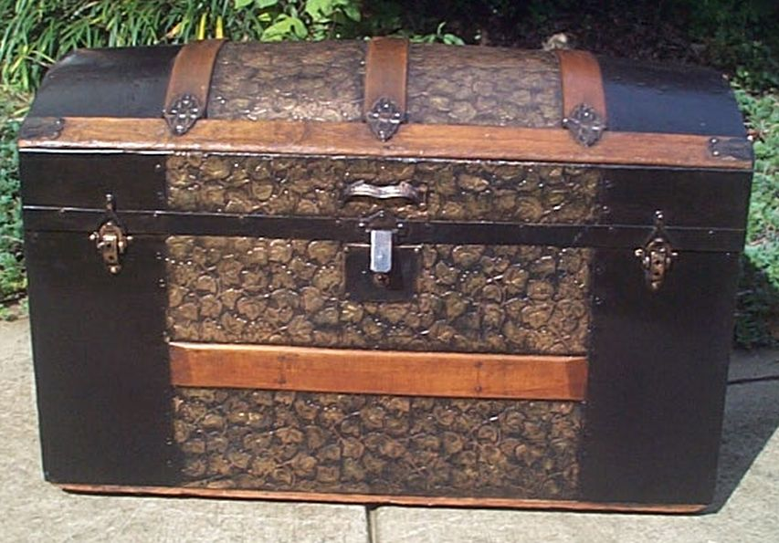 restored antique dome top trunk for sale 448