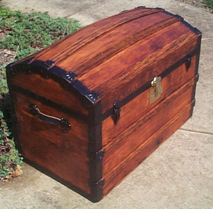 restored antique dome top trunk for sale 451