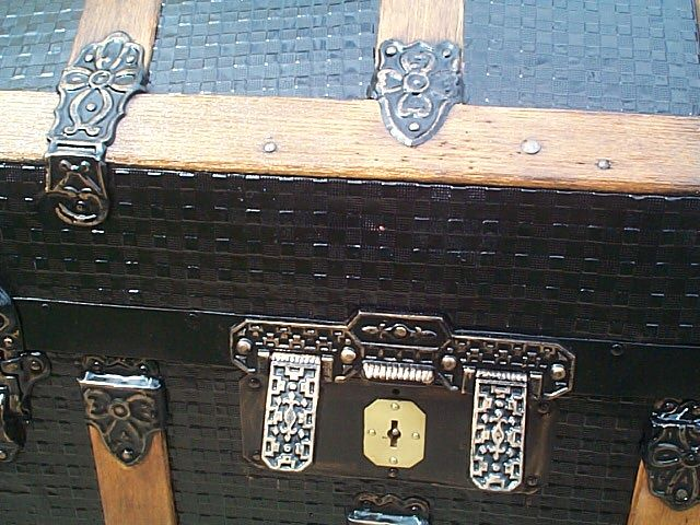 restored antique dome top trunk for sale 452