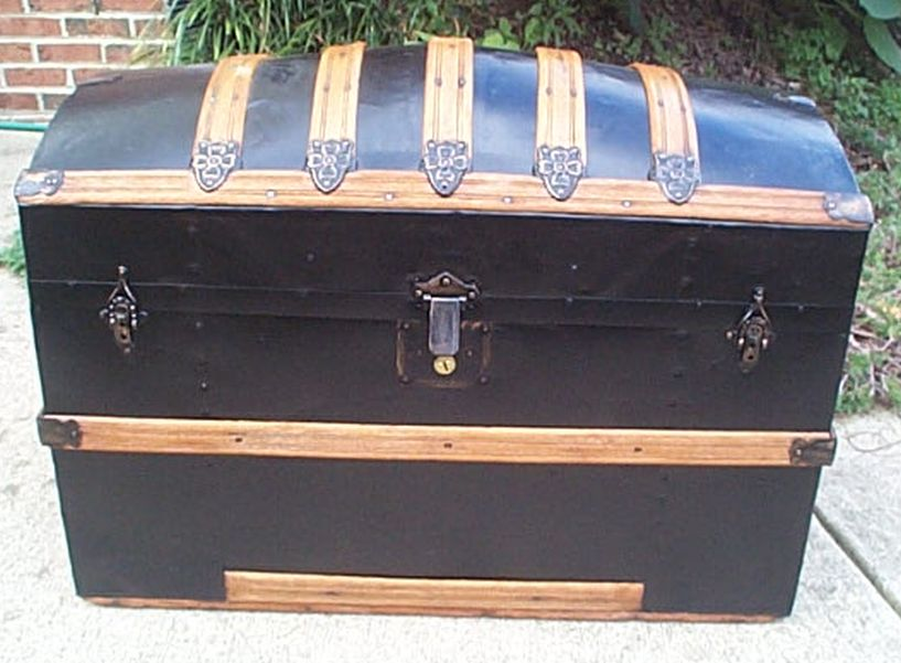 restored antique dome top trunk for sale 456