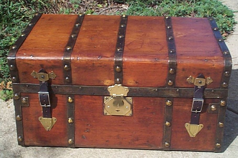 restored antique jenny lind trunk for sale 459
