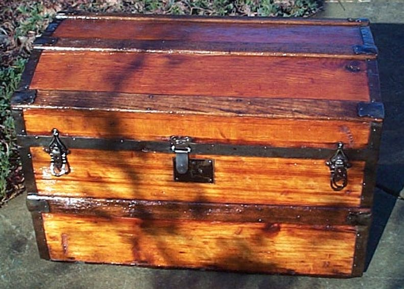 restored antique dome top trunk for sale 467