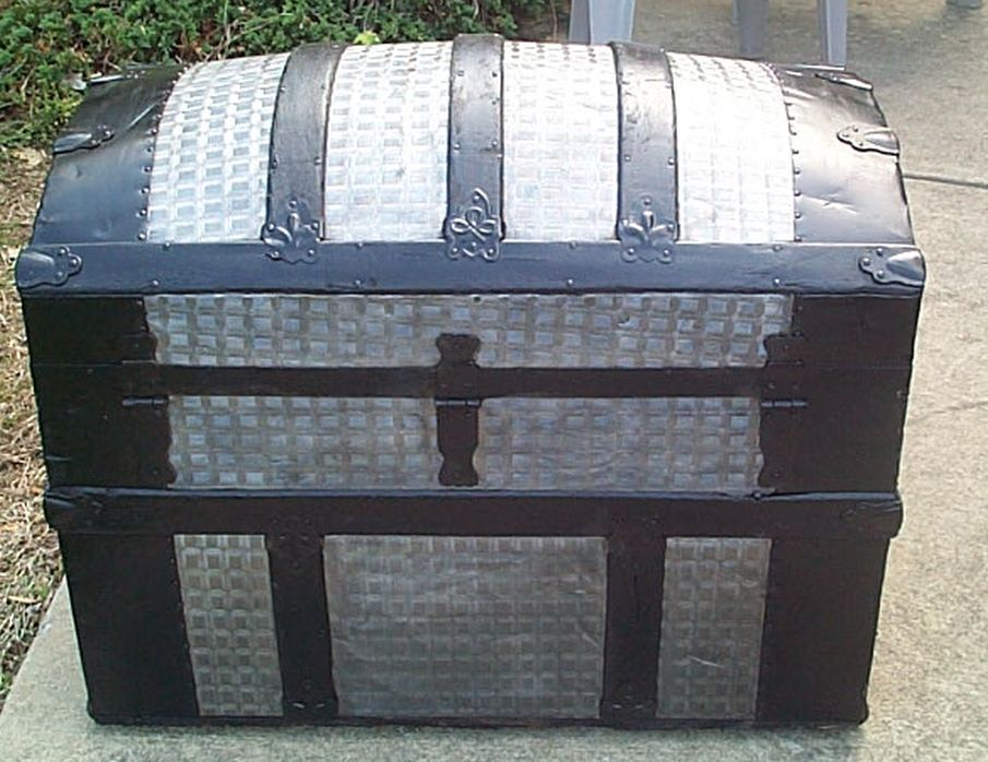 restored antique dome top trunk for sale #516