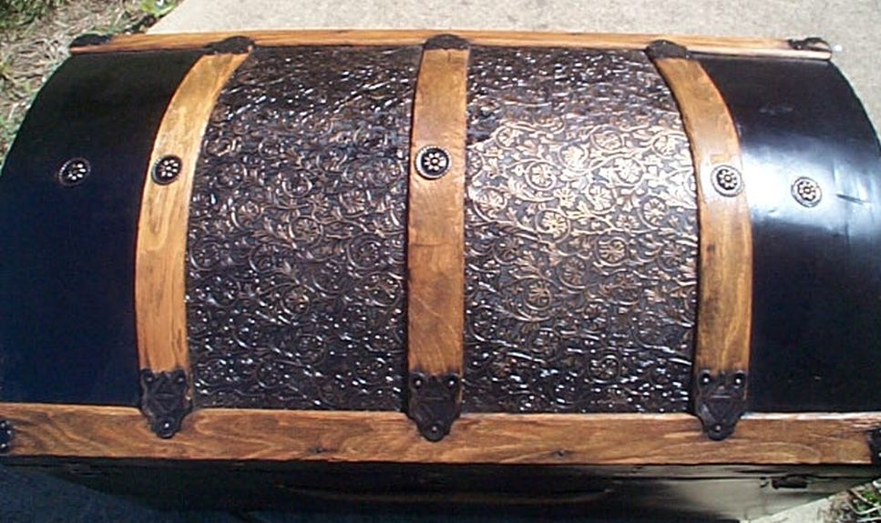 restored antique dome top trunk for sale #521
