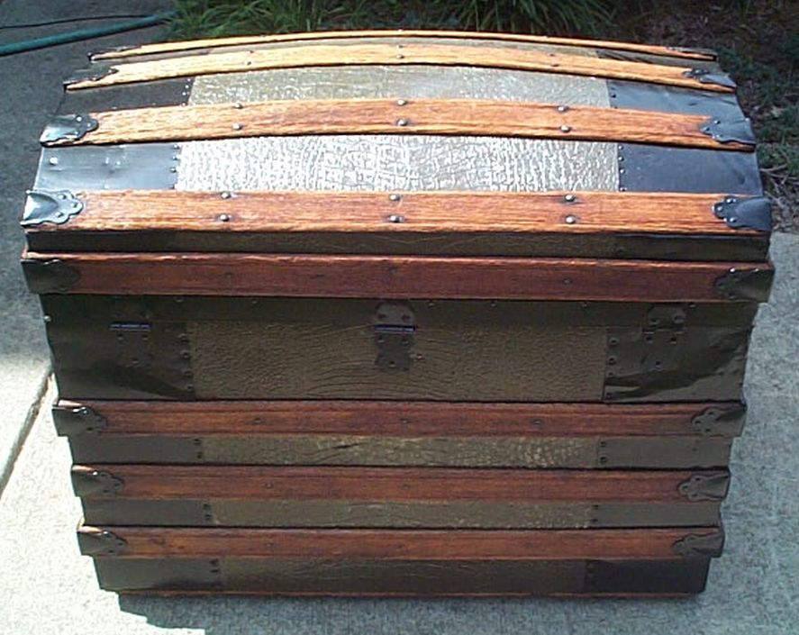 restored antique dome top trunk for sale #523