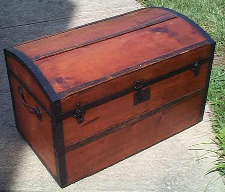 restored antique dome top trunk for sale #524