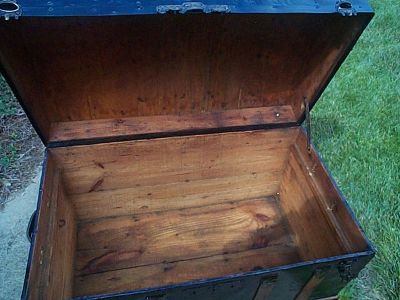 restored antique dome top trunk for sale #525