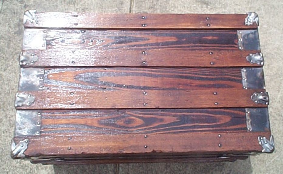 restored antique flat top trunk for sale #530