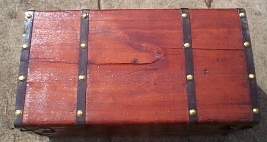 restored antique flat top trunk for sale #533