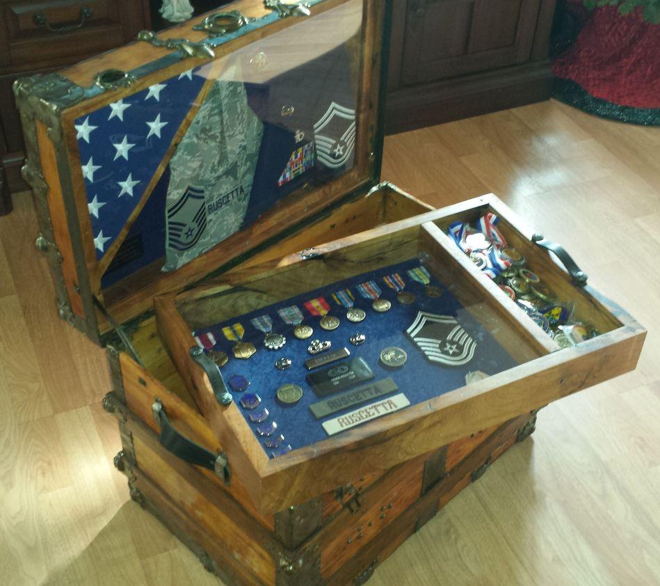 Army Navy Retirement Shadow Box ideas or Military Shadow box