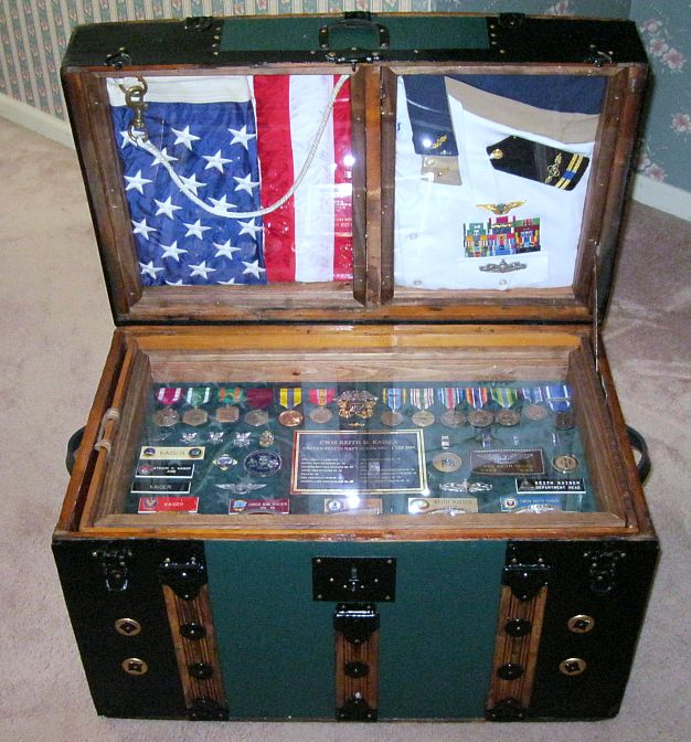 Military Retirement Shadow Boxes Ideas http://www.thepirateslair.com/antique-steamer-trunks-chests.html