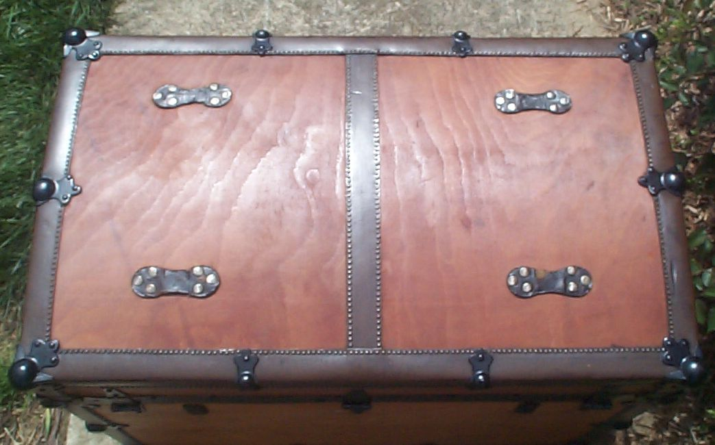 restored victorian all wood roll top antique trunks for sale 736