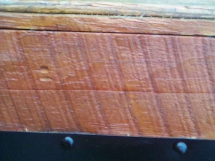 restored victorian all wood flat top antique trunks for sale 758