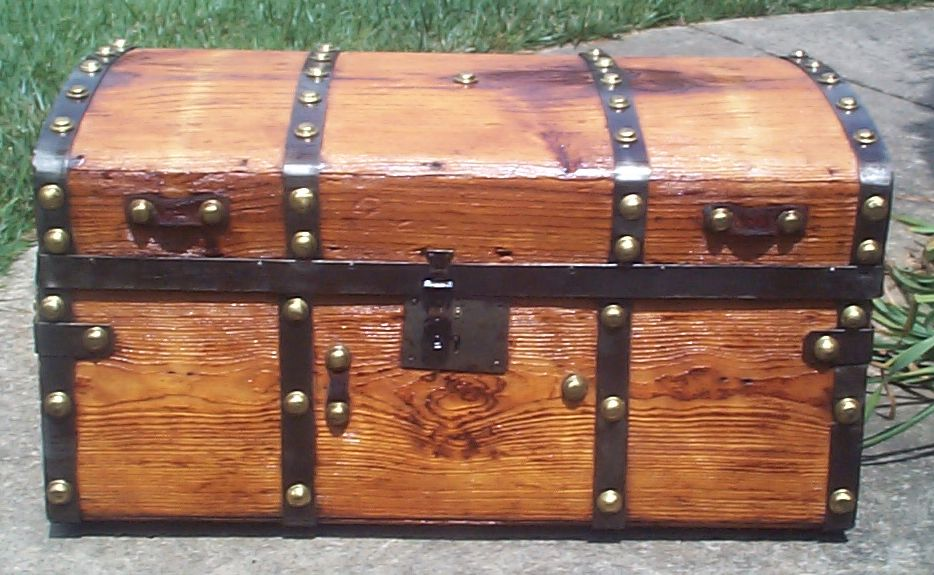 restored civil war jenny lind antique trunk for sale 777