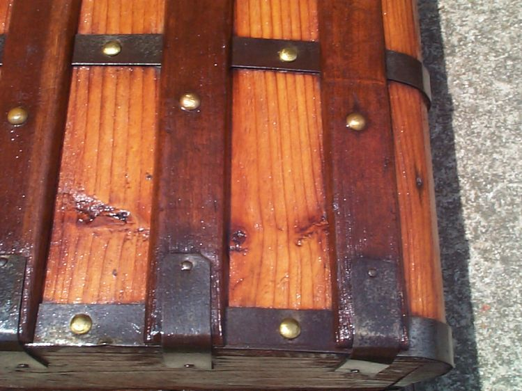 restored wood civil war jenny lind antique trunk for sale 782