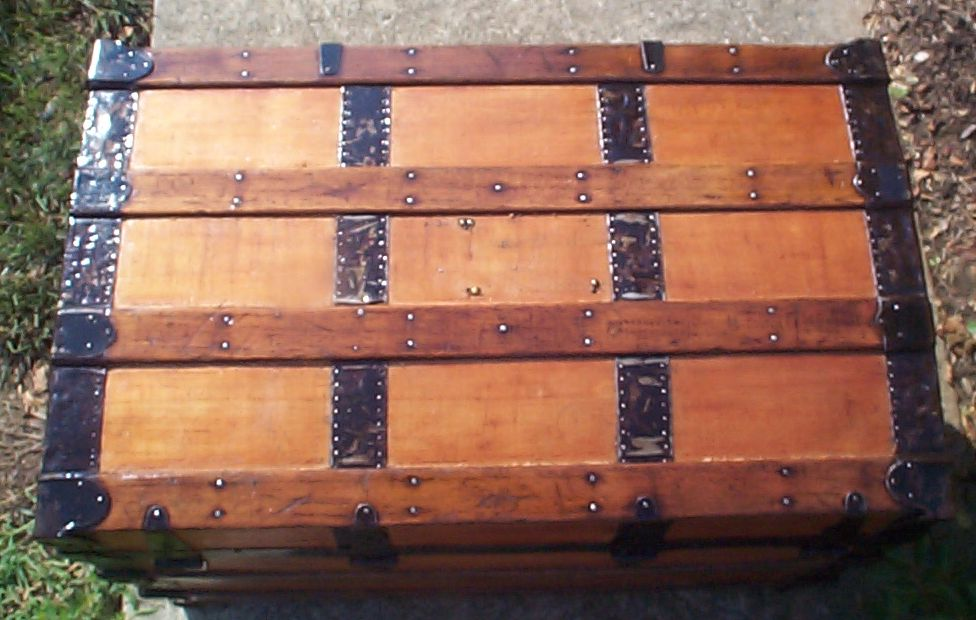 restored roll top antique trunk for sale 793