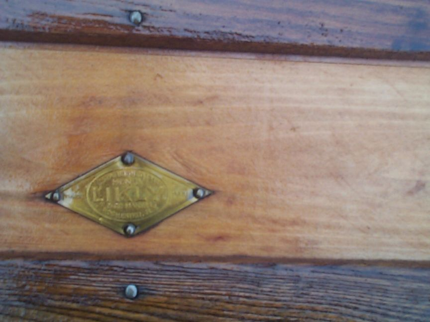 restored all wood flat top antique trunk for sale 820