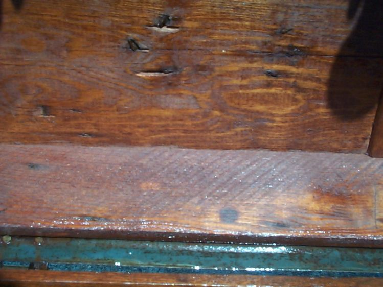 restored wood roll top antique trunk 851
