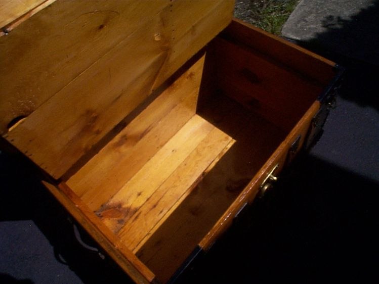 restored wood dome top antique trunk for sale 881