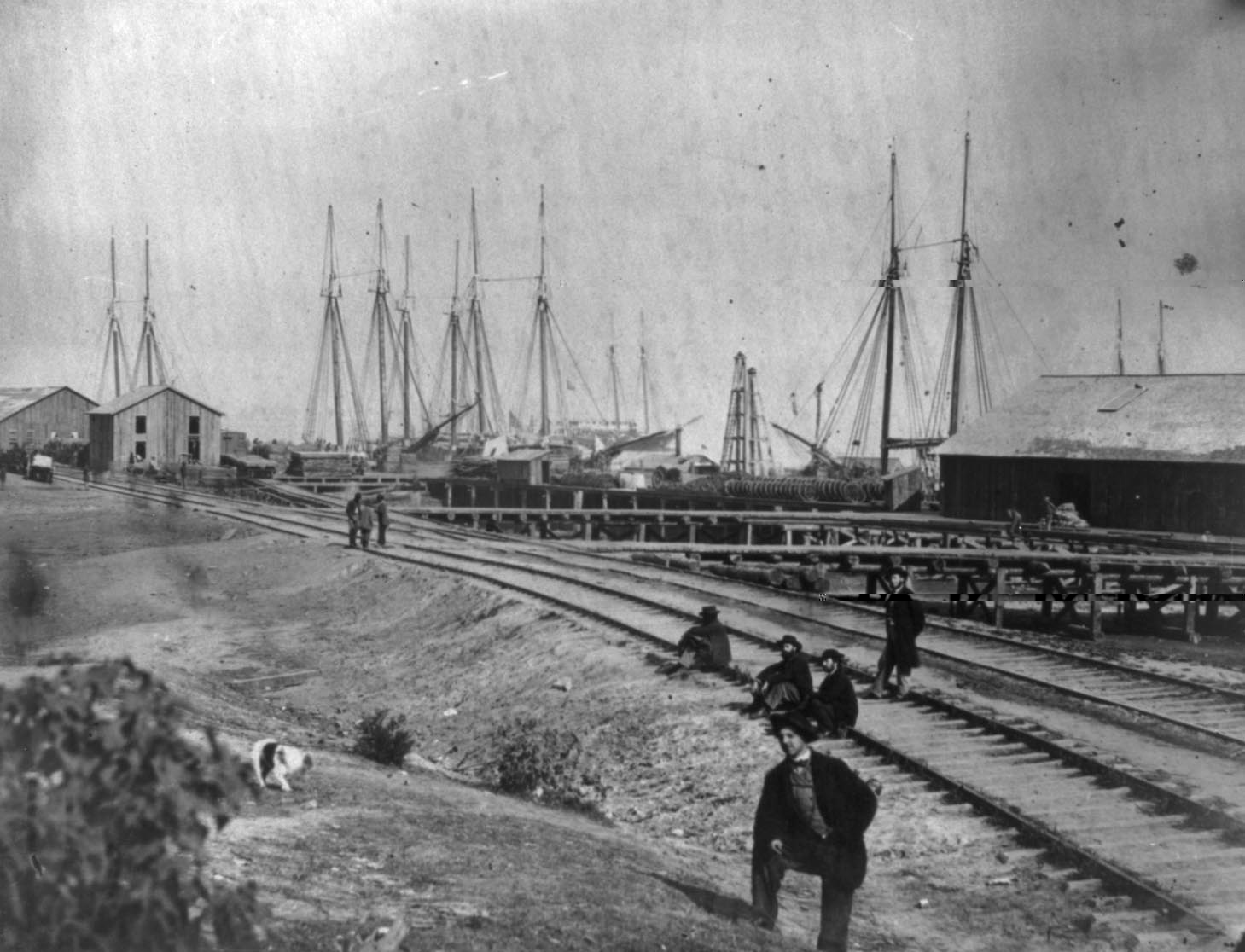 acquia or aquia creek dock around 1864