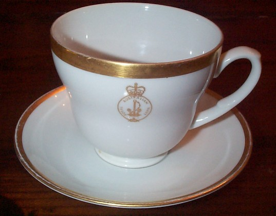 australian navy cup and saucer anchor topmark