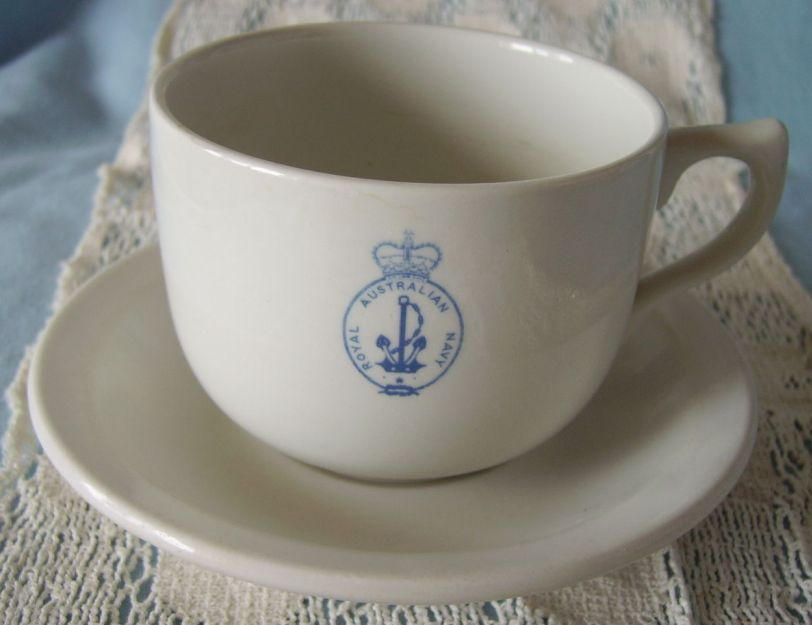australian navy coffee cup and saucer
