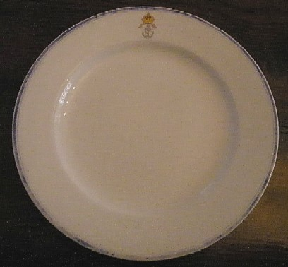 austro-hungarian KuK Kriegsmarine navy dinner plate officer's wardroom china