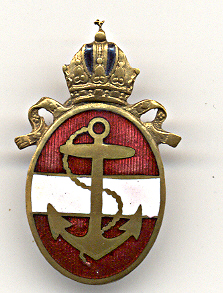Imperial Austro-Hungarian Kriegsmarine Badge with Flag