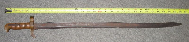 Antique mexican war ames naval cutlass m1841