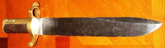 civil war union us navy dahlgren bowie bayonet 1863, well marked