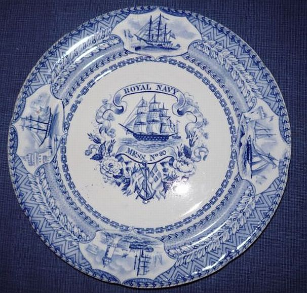 British Royal Navy Mess Plate No 20 Victorian Era 1840-1875