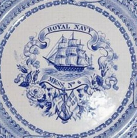 british royal navy mess plate no 6