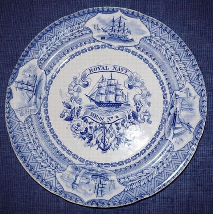British Royal Navy Mess Plate No 6 Victorian Era 1840-1875