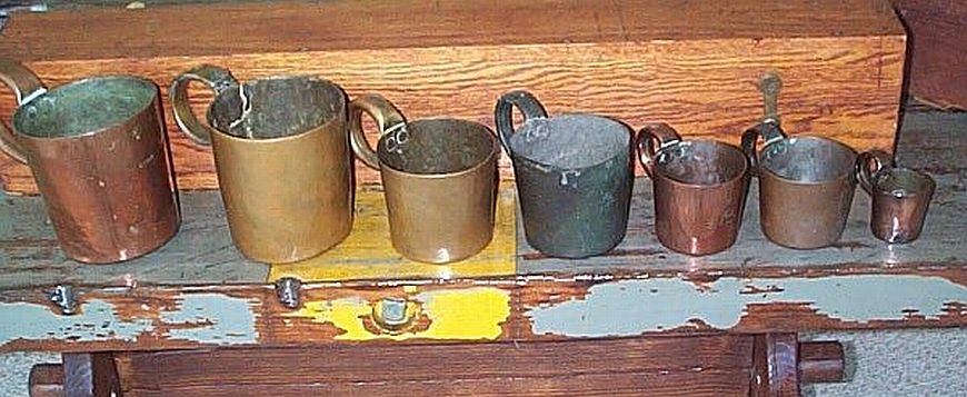 british royal navy rum cups and measures