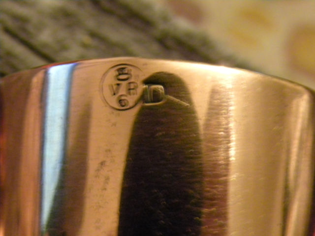 British Royal Navy Rum Cup Or Grog Copper Measure 1 2 Gill