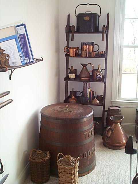 photo showing the rum and grog collection at The Pirates Lair