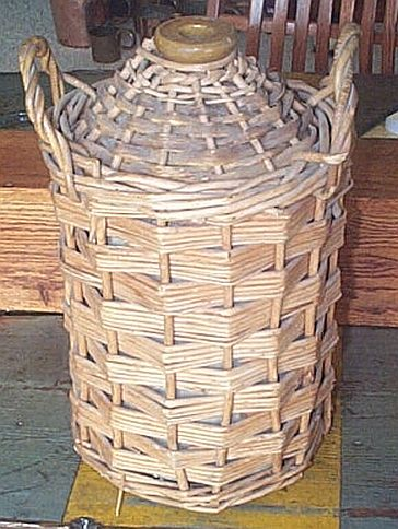 British Royal Navy WWII Imperial Rum Demijohn with Wicker