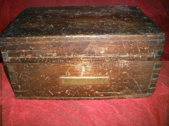 Vintage WWII British Royal Navy Sailors regulation Ditty Box, Sea Chest or Sea Trunk